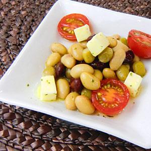 蒸しサラダ豆とトマトの和風マリネ