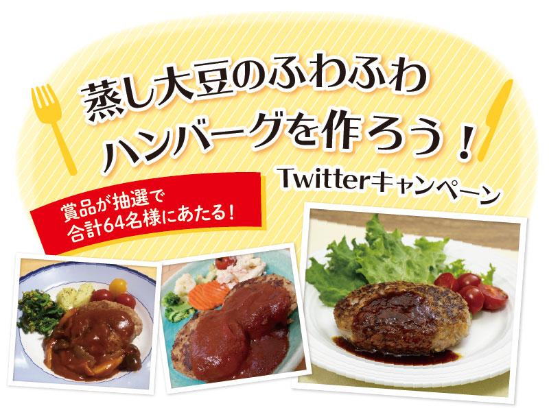 蒸し大豆のふわふわハンバーグを作ろう!キャンペーン