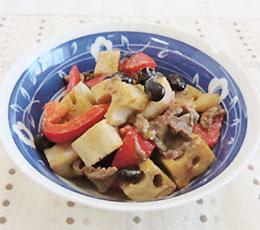 たき蓮根と黒豆の味噌しょうゆ煮