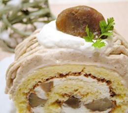 モンブラン風ロールケーキ