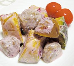 甘栗のベリーソースサラダ