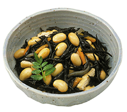 蒸し豆のひじき煮