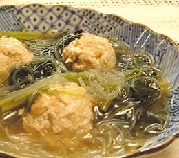 大豆入り鶏団子のはるさめ煮